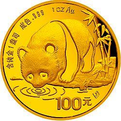 1987 chinese gold panda