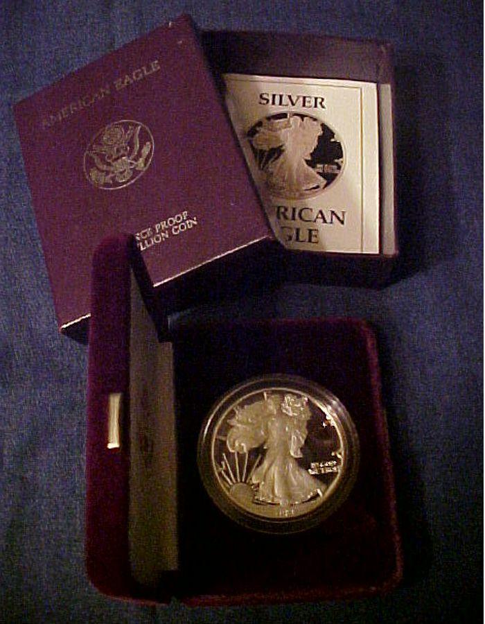 1988 silver eagle proof