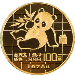 1989 chinese gold panda
