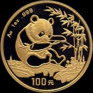 1994 chinese gold panda