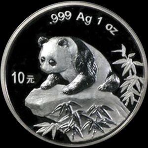 1999 chinese silver panda