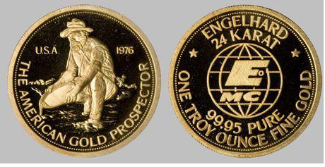 engelhard gold prospector round