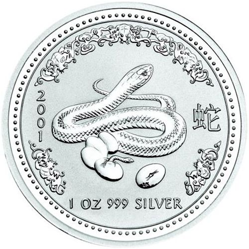 2001 series 1 - silver lunar snake