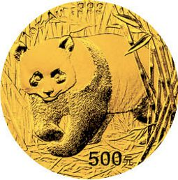 2001 chinese gold panda