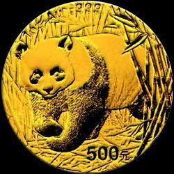 2002 chinese gold panda