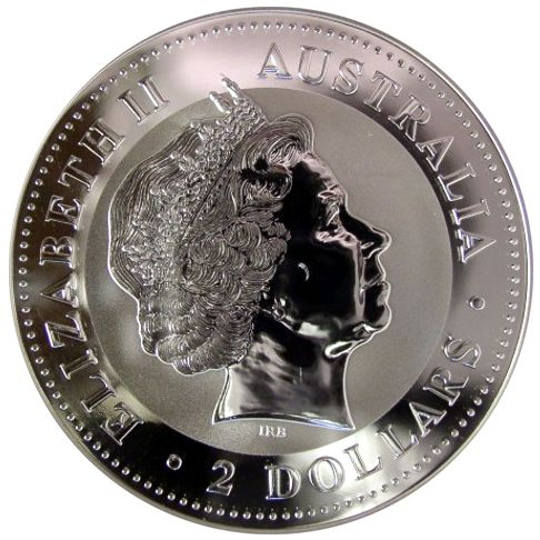 2 Oz Australian Silver Kookaburra Bullion Coin
