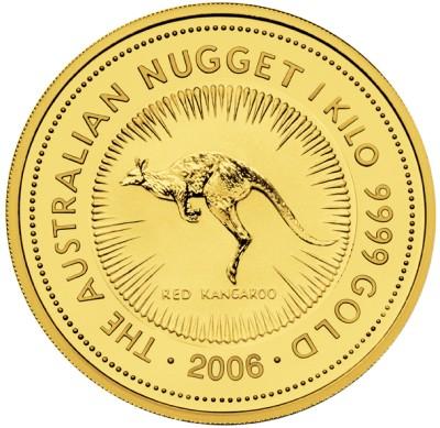 2006 1 kilo. Australian Gold Nugget - Original Style (Gold Kangaroo)