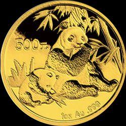 2007 chinese gold panda