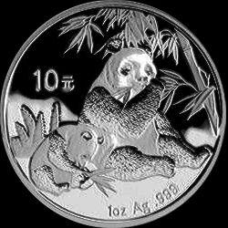 2007 chinese silver panda