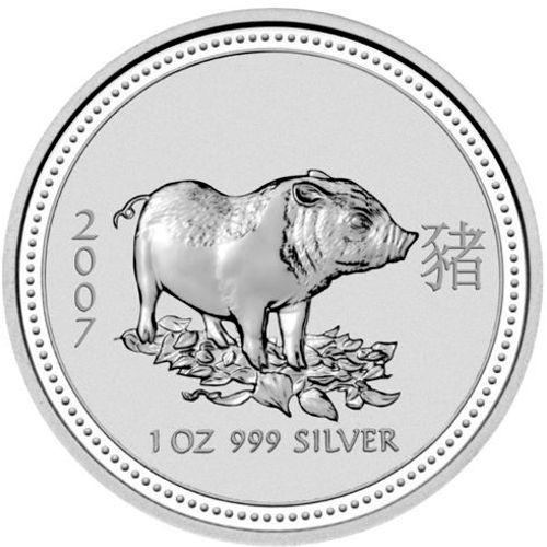 2007 series 1 - silver lunar pig