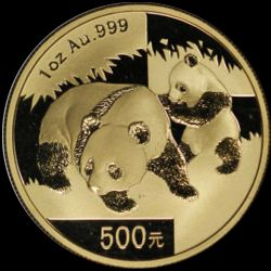 2008 chinese gold panda