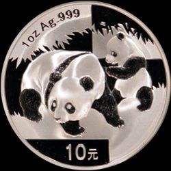 2008 chinese silver panda