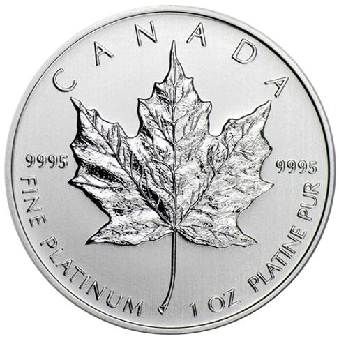 1 Oz Canadian Platinum Maple Leaf Bullion Coin