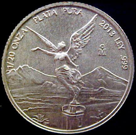 1 20 Oz Mexican Silver Libertad Bullion Coin