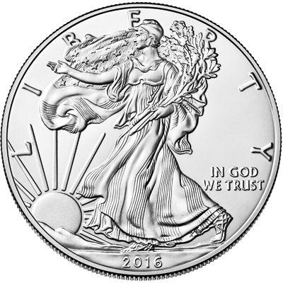 1oz american eagle silver bullion coin obv