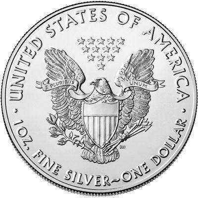 1oz american eagle silver bullion coin rev