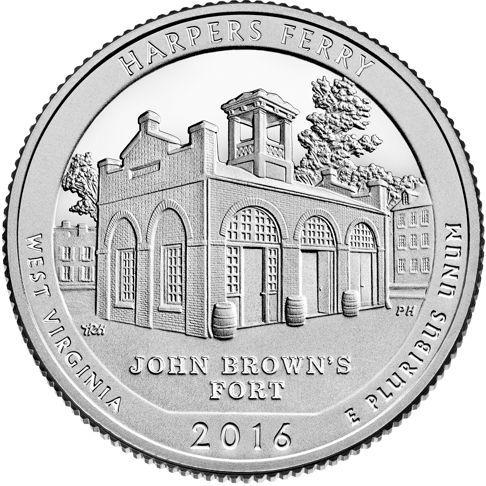 5oz atb west virginia john brown's fort coin