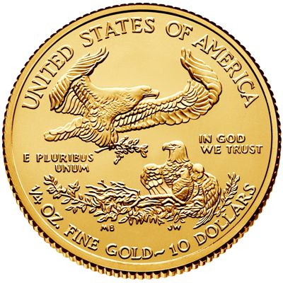 2016 quarter oz american eagle gold bullion coin obv