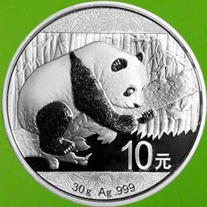 1 Oz And 30gram Chinese Silver Panda Bullion Coins