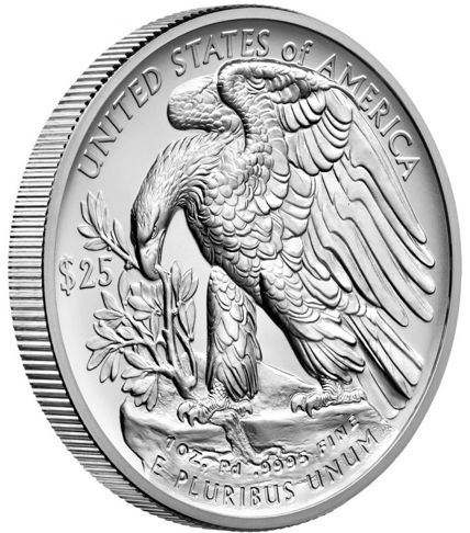 american eagle palladium bullion coin reverse with edge