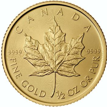1/2 oz. Canadian Gold Maple Leaf Bullion Coin