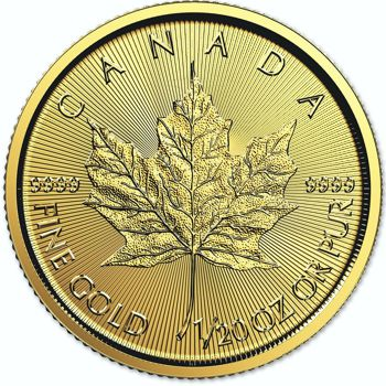 1/20th oz. Canadian Maple Leaf Bullion Coin