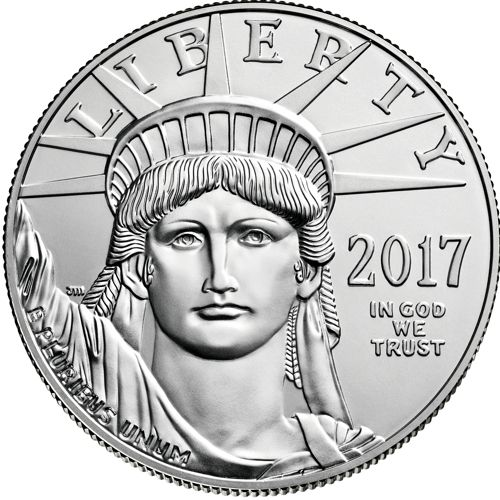 one oz platinum eagle - obverse