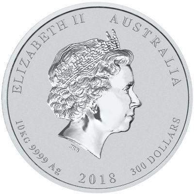 2018 - 10-kilo. Australian Silver Lunar - Obverse
