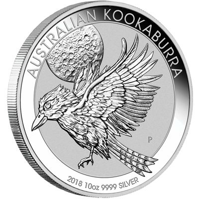 ten oz silver kookaburra - reverse side