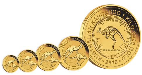 gold kangaroo bullion coins