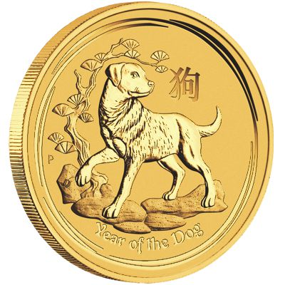 1oz. Australian Gold Lunar Dog - Series II  Reverse