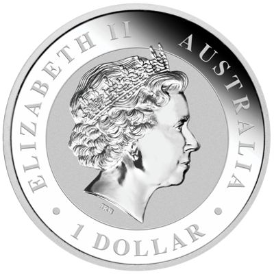 one oz silver koala - obverse side