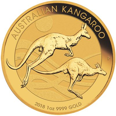 2018 - 1 oz. Australian Gold Kangaroo Bullion Coin - Reverse Side