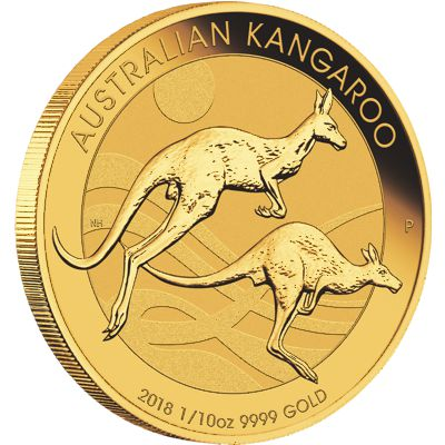 1/10 oz. Australian Kangaroo  Gold Bullion Coin
