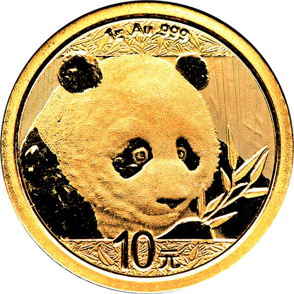 1/20th oz. Chinese Gold Panda Bullion Coin