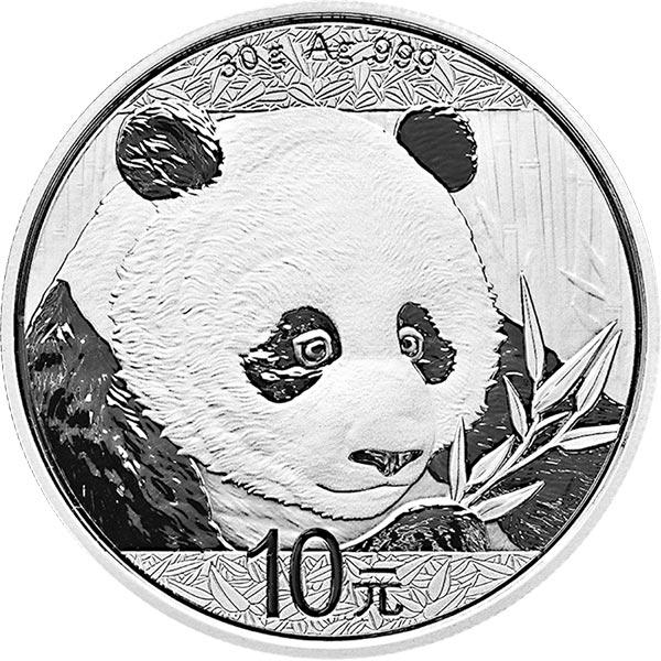 2018 silver chinese panda