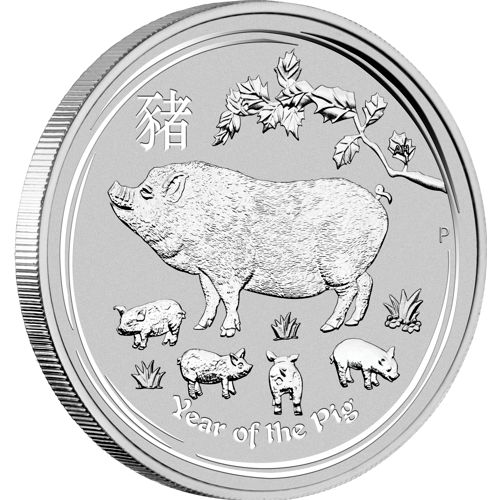 2019 UNC Year of the Pig 1//2 oz SILVER Bullion Coin Australia 50 Cents