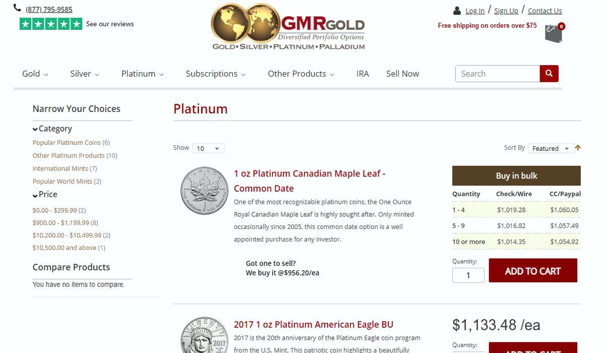 GMRGold platinum