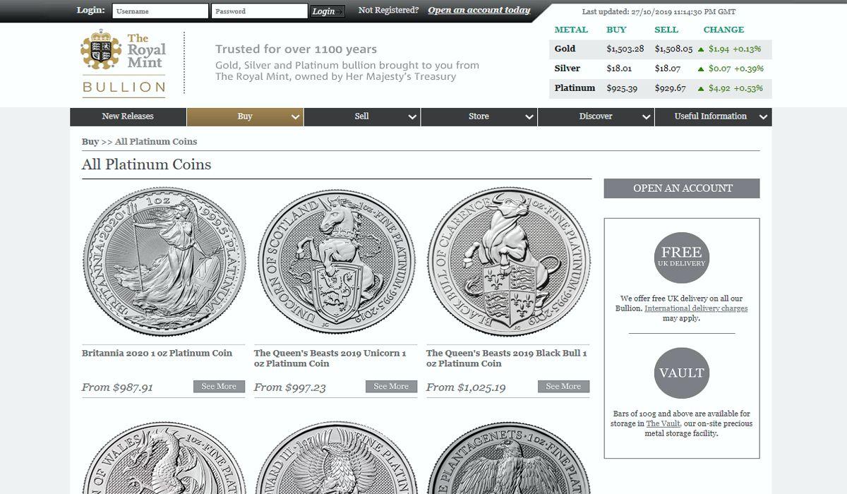 The Royal Mint platinum