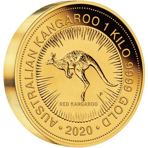 1 kilo. Australian Gold Kangaroo Bullion Coin