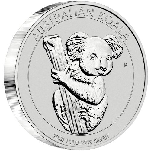 one kilo silver koala - reverse side
