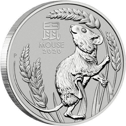 1oz platinum kangaroo - reverse