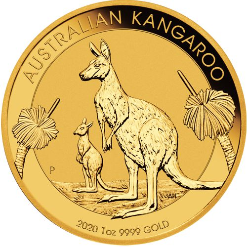 1 oz. Australian Gold Kangaroo Bullion Coin - Reverse Side
