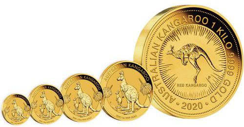 gold kangaroo bullion coin series