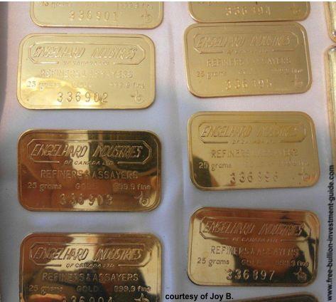 25 gram engelhard gold bars