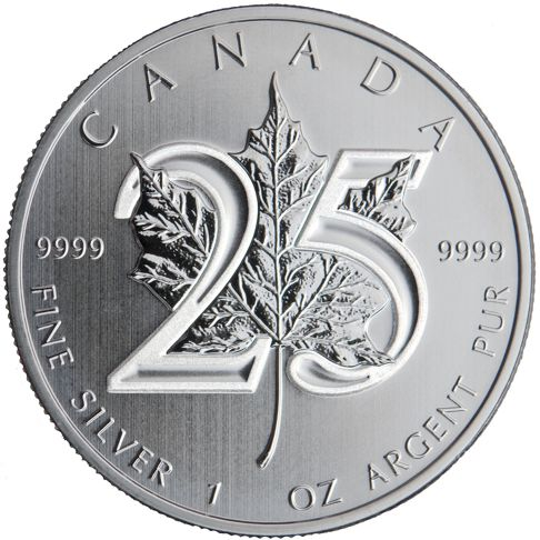 25th anniversary silver maple leaf