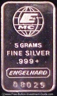 5gram engelhard silver bar