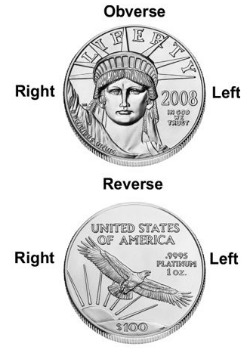 left right obv rev of coin