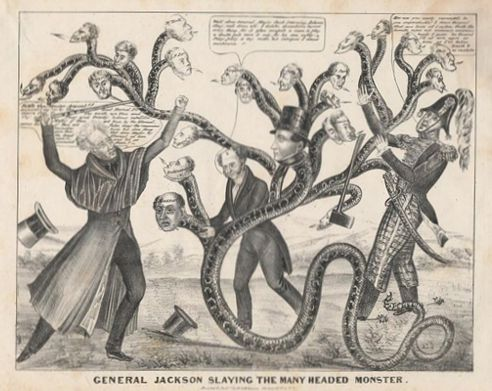 andrew jackson fight against central bank