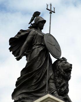 britannia with lion